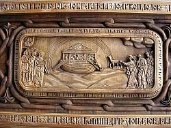 Detail from new Iconostasis-Noah's ark