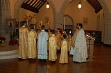 Four priests and 11 altar boys served in the Altar